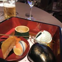15000円の和食コースの前菜
