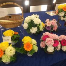 ブライダルフェアーにて 装花