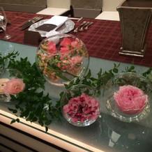 大満足の可愛い装花