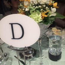花、テーブルコーディネート