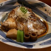 お刺身から焼き魚へ変更して頂きました。