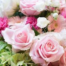 お花はピンク系にしました!