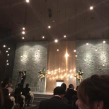 挙式会場の写真です。