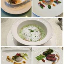 試食のときの料理です。