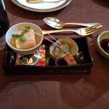 前菜だけは和食でした