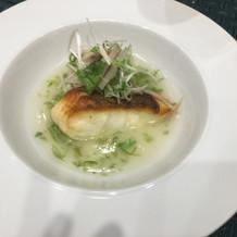 魚料理。お腹に優しい温かいお料理でした。