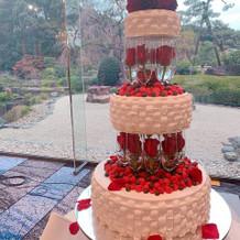 可愛い生ケーキ、写真映えです!