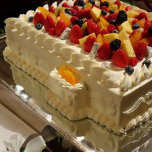 アレルギーに対応して下さったケーキ