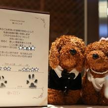 結婚証明書も飾っていただきました♪