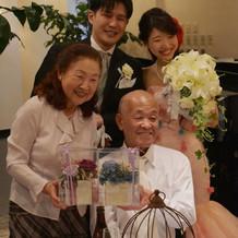 金婚式のお祝い