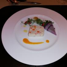 白身魚の前菜
