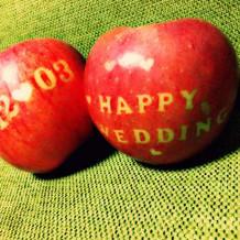彼の実家のリンゴ
