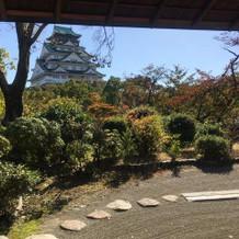 この景色とお抹茶と和菓子をいただけます。