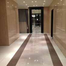 会場へ向かう廊下の雰囲気