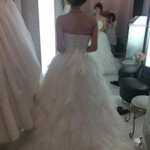 羽のドレス