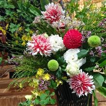 素敵な神殿装花
