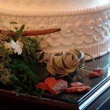 イミテーションケーキにも装飾