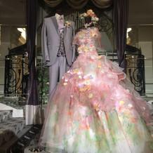 展示会でのドレスも素敵でした!