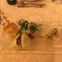 夏野菜と鮮魚のミルフィーユ
