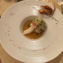 太刀魚と手長海老のバブール