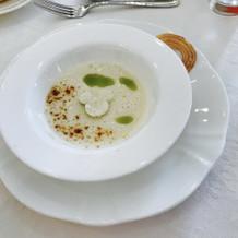 スープのパン生地がミッキーになっていた!