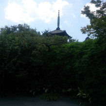 庭園の集合写真スポット