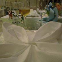 ナプキンの折り方がかわいい!