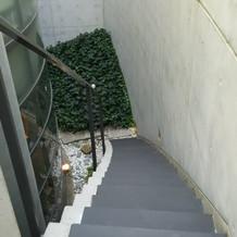 新郎新婦入場の階段