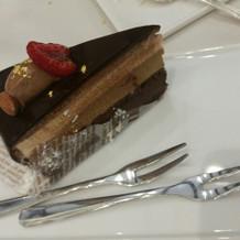 ビュッフェのチョコケーキ