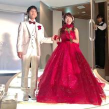 星の王子様のバラをイメージしたドレス