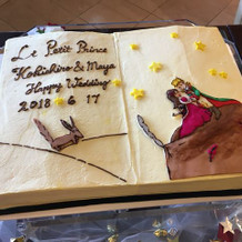 ケーキも希望通り。
