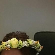 カラードレス時ヘア花冠生花