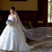 桂由美さんのウェディングドレス