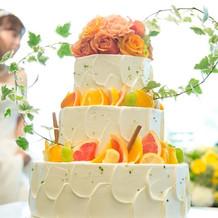 ウェディングケーキ。どれも素敵です・・・