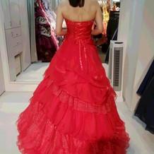 赤カクテルドレス