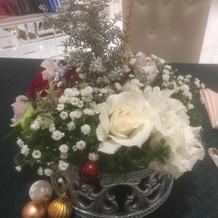 クリスマスをイメージされたお花