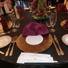 テーブルコーデも素敵です