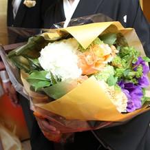 親族プレゼント用花束