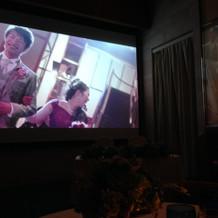 大画面の映像演出