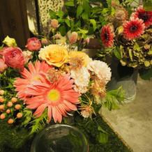 装花のボリュームが値段以上で感動しました