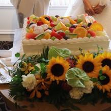 夏いっぱいのケーキ。