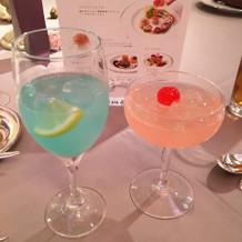 綺麗な色のノンアルコールカクテル