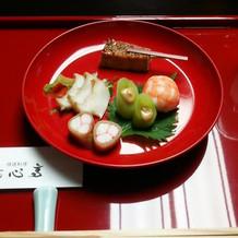 堯心亭のお祝い膳、二品目です。