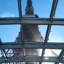 圧巻の東京タワーの景色!