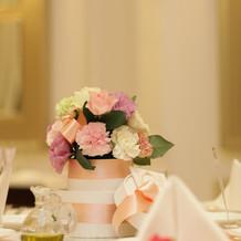 各テーブル卓の花