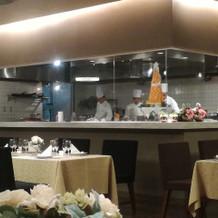 オープンキッチンが素敵でした。