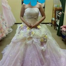 ラプンツェルのようなドレス2way
