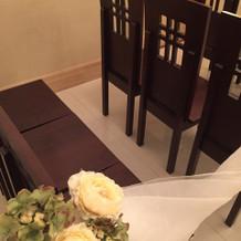 チャペルの椅子