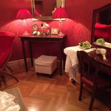 ホテルのようなブライズルーム