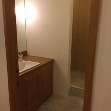 新郎新婦専用のトイレ